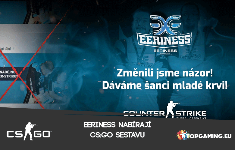 eEriness vyrukovali s novou CS:GO sestavou