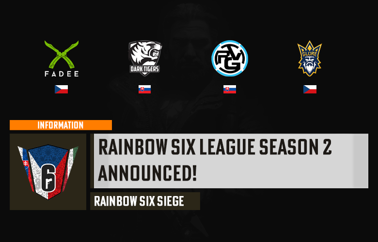 Rainbow Six liga Season 2 oznámena!